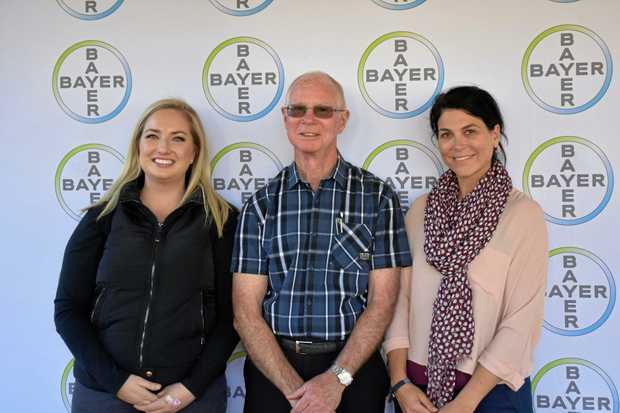 MEDICAL HELP: The Heart Bus of Australia hits town and brings a number of specialists in a weekend road show including Laura Zimmerman and Dr Jessica Tattersall, pictured here with Mayor Richard Marsh.
