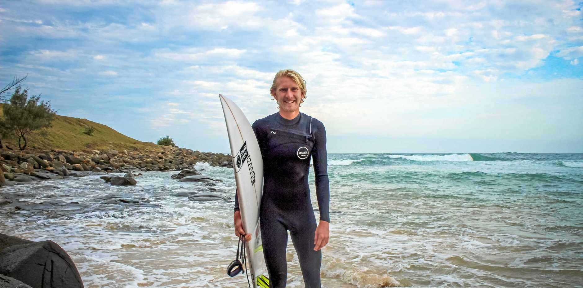 POST-SURF: Angourie's Chris Zaffis has finished second in the final of the Open Mens division in the Australian Festival of Surf.