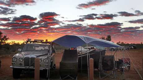 Daimover sets up camp in Boulia.
