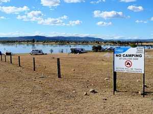 Camping crackdown at dam
