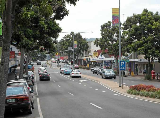 Currie Street, Nambour, looking north.