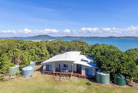 The only house on Victor Island, off Mackay, is for sale for $3,500,000.