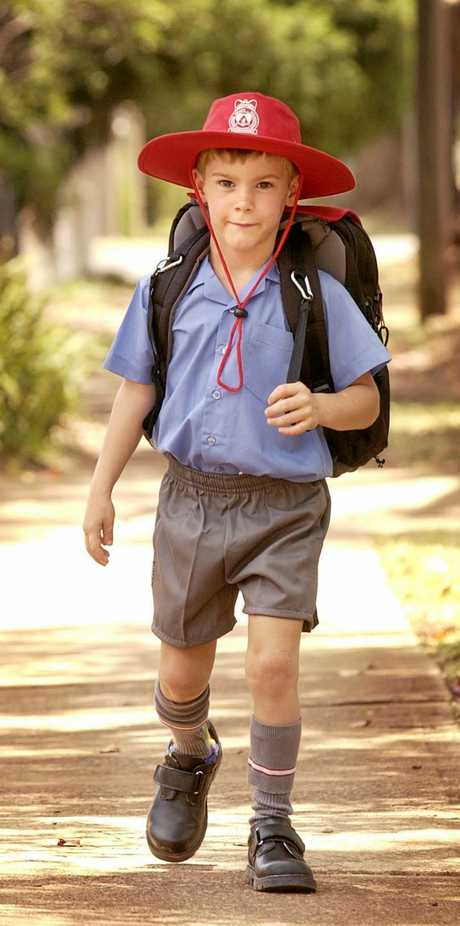 Charles Lindenberg on his first day of school in 2003.
