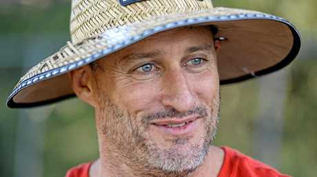 DON'T BITE ME: Ipswich Jets co-coach Ben Walker. The stubble on his chin might make it harder for the mozzies to bite him in Port Moresby today.