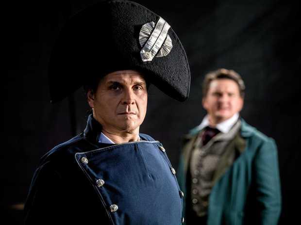 Les Miserables Robert Shearer as Jean Valijean and Lionel Theunissen as Javert.