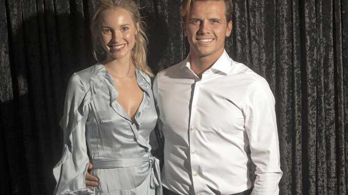 LOVING COUPLE: Pro-surfer Julian Wilson with wife Ashley.