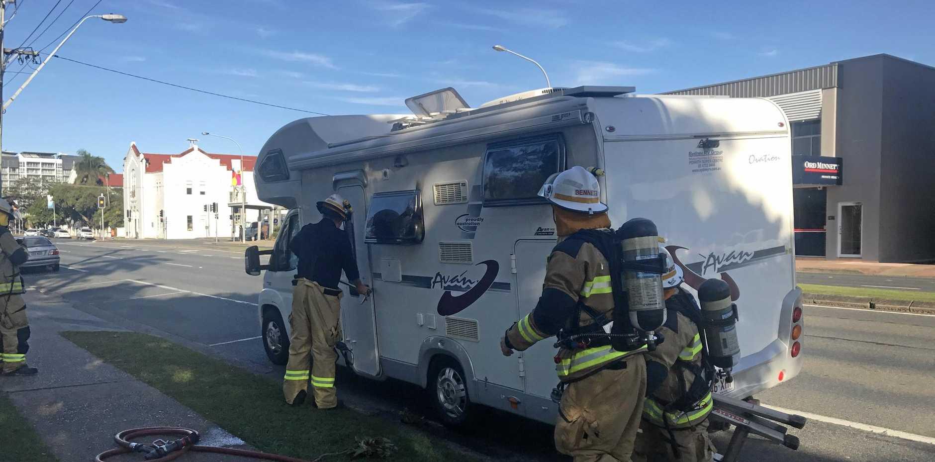 A camper van has caught fire on Gordon st.