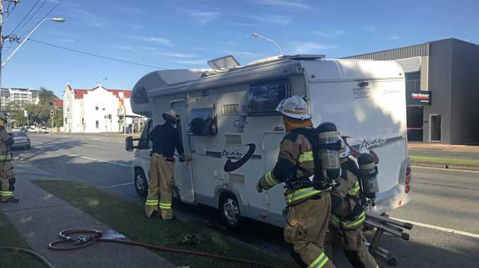 A camper van has caught fire on Gordon st.