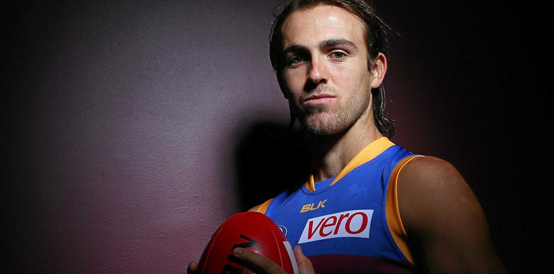 COMBATIVE: Brisbane Lions' versatile Rhys Mathieson cops criticism about his play on the chin.