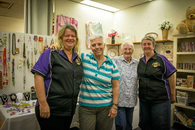 HELPING HAND: Narelle Tompkins, Heather Lang, Pam Green and Donna Ross at the shop.