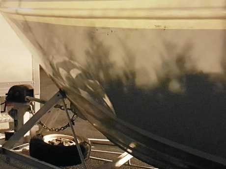 A whale impact left a dent on a A1 fishing charter vessel.