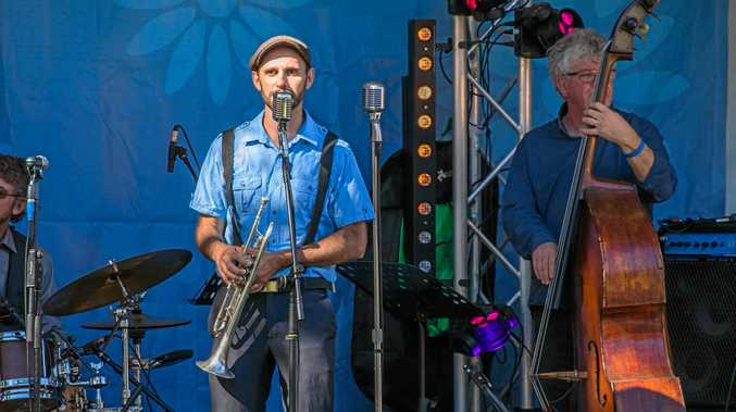 The Jimmy Halliday Quartet on stage at the Wishlist Jazz and Wine Festival.
