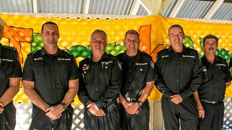The fire crew who helped douse the flames at One Mile State School.
