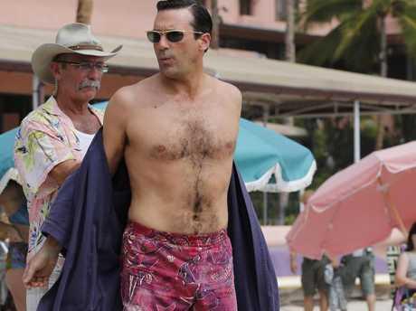 Jon Hamm's dad bod is actually pretty good. Picture: Splash NewsSource:Splash News Australia