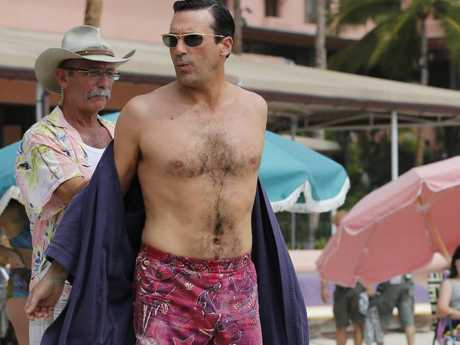 Jon Hamm's dad bod is actually pretty good. Picture: Splash NewsSource:Splash News Australia