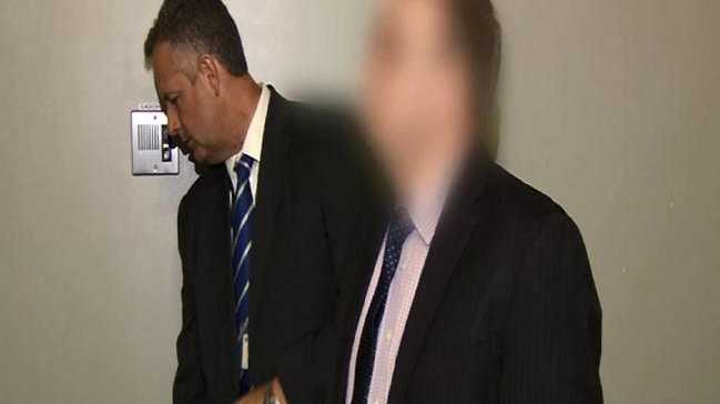 The arrest of Bryan Beattie, the first man charged with child cybersex trafficking in NSW. Picture: NSW Police Media