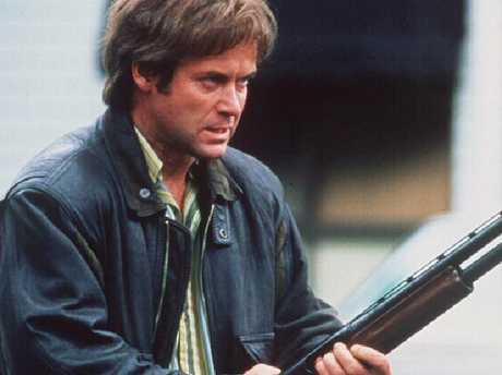 Gary Sweet as 'Mr Rent-A-Kill Chris Flannery in a scene from Blue Murder, the first series.