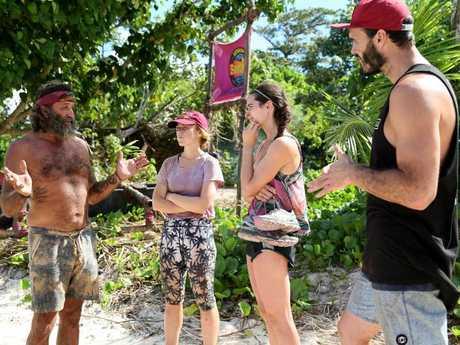 Mark Herlaar from Australian Survivor on the left, with Tessa, Ziggy and Lockie.