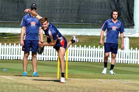 South Australian Redback's cricket team train at Buderim. Alex Carey.