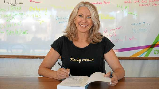 Former newsreader and journalist Tracey Spicer signed copies of her autobiography The Good Girl Stripped Bare at the 2017 Byron Bay Writers Festival.