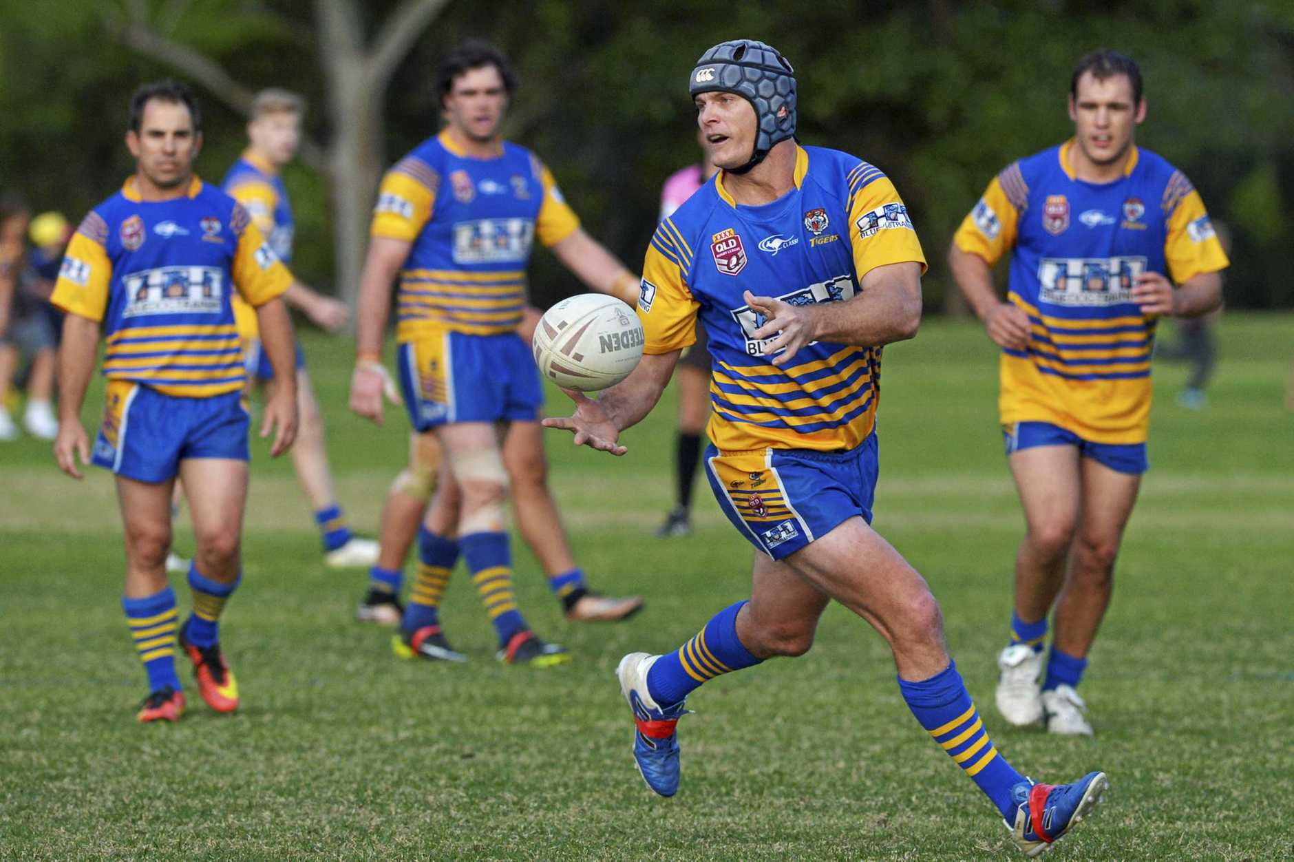 CRUEL SETBACK: Champion Norths captain Josh Roberts will be cheering his beloved Tigers on from the sidelines after breaking his leg.