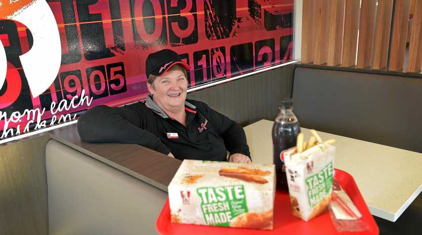Barb Ehrlich, who started working at KFC at Maroochydore in 1978, was nominated as being the best customer service person on the coast in 2014.