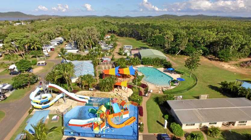 BIG PLANS: Discovery Parks- Coolwaters Yeppoon site on 60ha of land with water-slide, accommodation and dining all on the beach-front.