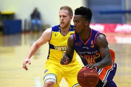 BASKETBALL: Susnhine Coast Phoenix v Townsville Heat. Phoenix's Breland Hogan.