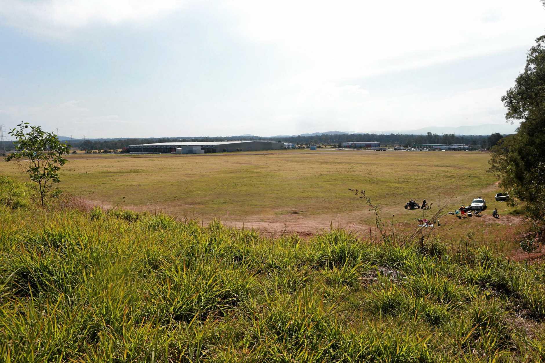 The Bundamba industrial block where Costco is set to be built.
