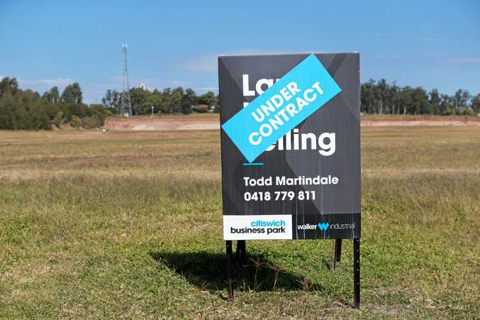 WELCOME: The under contract industrial site at Bundamba where a new Costco will be constructed.