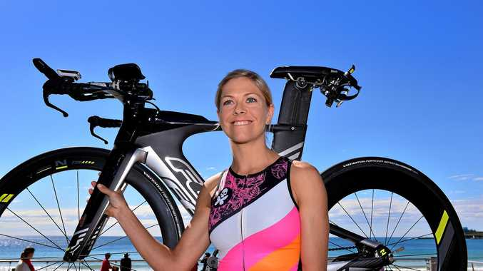 GRITTY: Meredith Hill, pictured at Mooloolaba, was second in a gruelling race in Norway.
