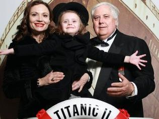 Clive and Anna Palmer with daughter Mary when the Titanic II was first announced back in 2012.