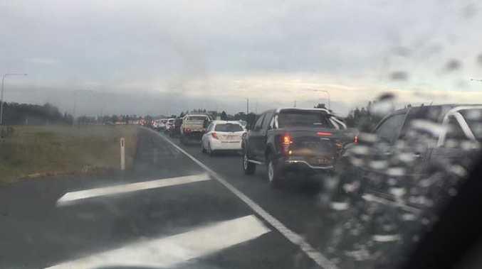 Traffic at a standstill after crash