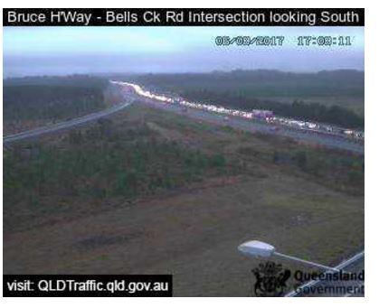 Traffic cam reveals extent of gridlock