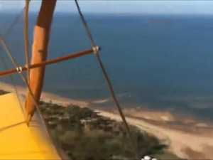The view of Mackay from an old war time Tiger Moth