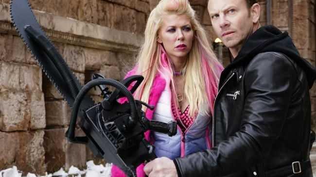 Tara Reid stars in Sharknado 5 with Ian Ziering.