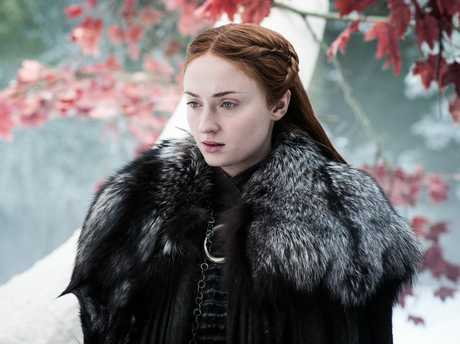 Sophie Turner in a scene from season 7 episode 4 of Game of Thrones.