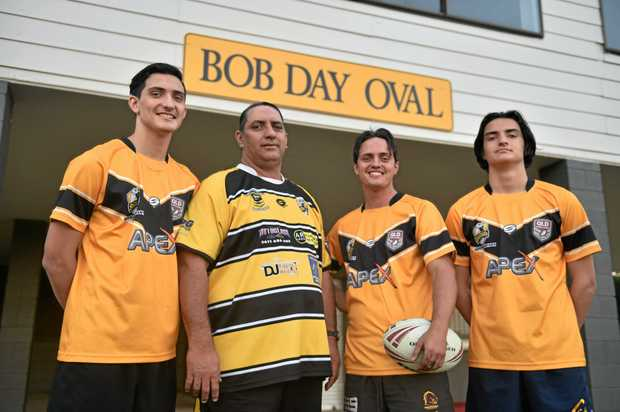 FAMILY TIES: Ray, Chris, Ben and Josh Totoro will play in the Caboolture Snakes exhibition match celebrating the club's 70th birthday.