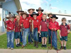 Whip crackers on their way to the Ekka