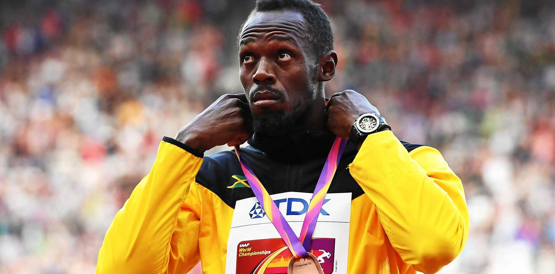 Bolt took offence to one question from a journalist.