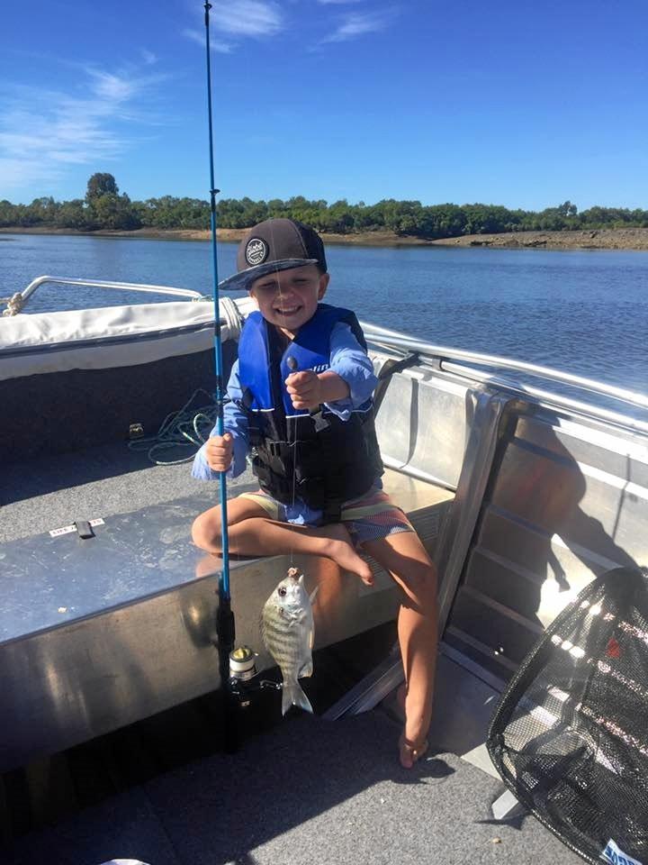 Brax Scott caught this bream in the Pioneer River.