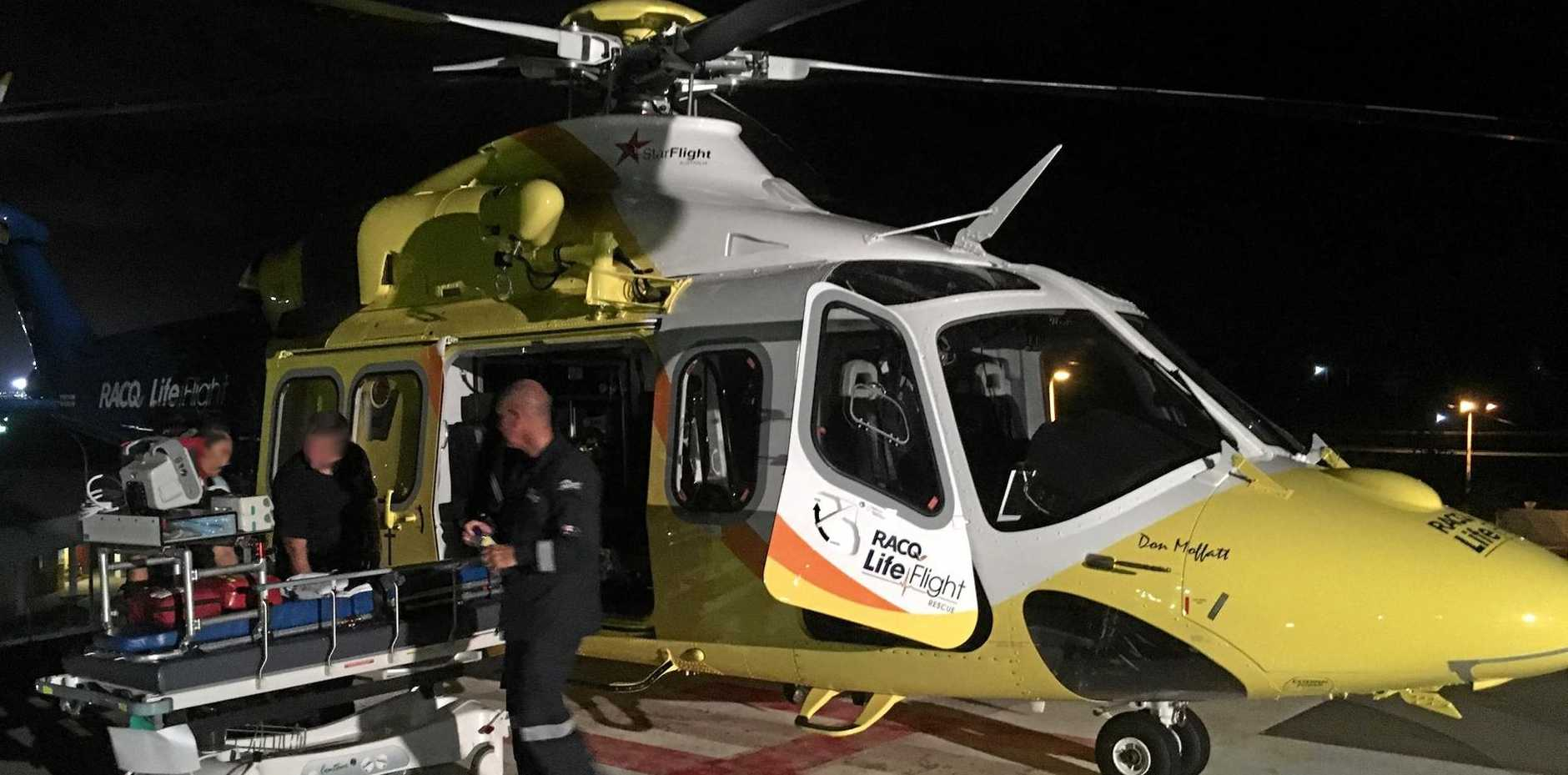 LIFEFLIGHT has taken the $18m AW139 rescue helicopter away from the Sunshine Coast only months after it was commissioned and named after community rescue service stalwart Don Moffatt.