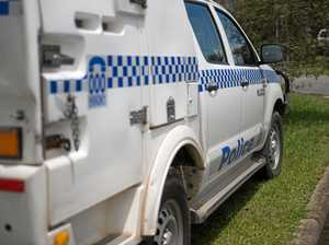 Two men were given on the spot fines after breaking into a police vehicle prisoner pod.