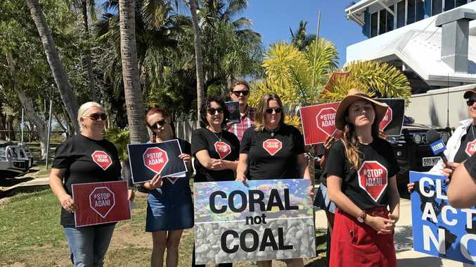 NO MINE: Mackay Conservation Group speak against Adani.