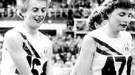 Betty Cuthbert with Aussie relay teammate Marlene Mathews.
