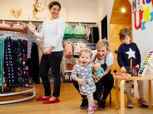 Shopping centre nannies take care of kids while parents shop