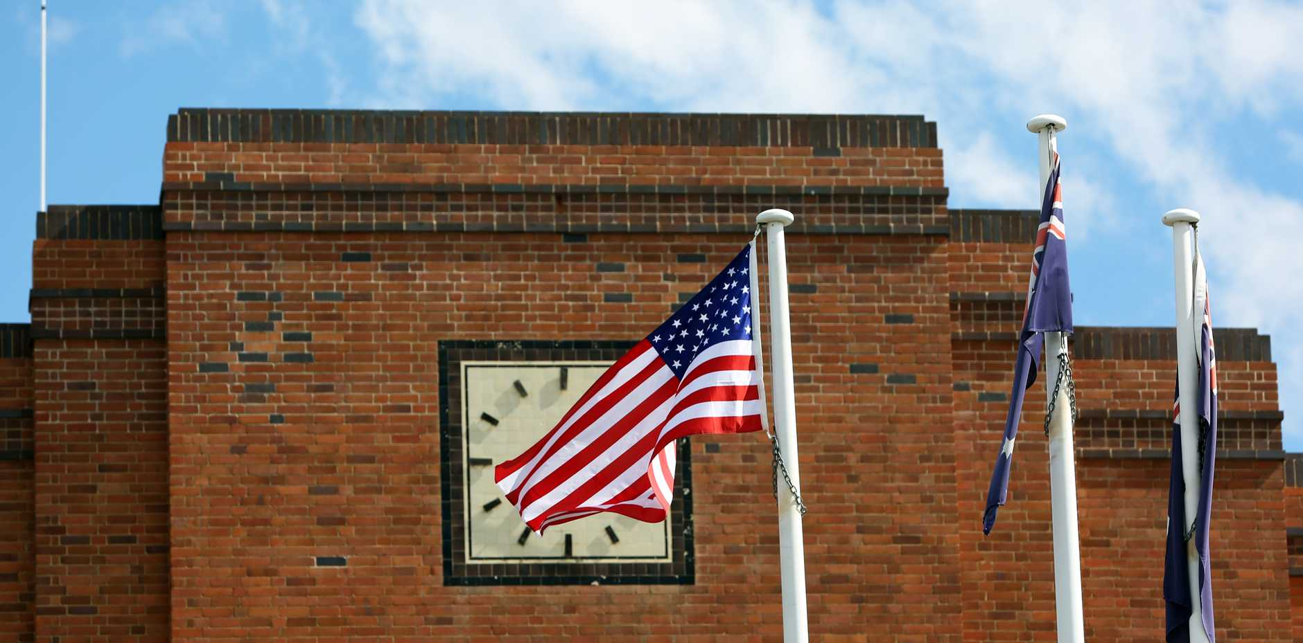 US flag at Rockhampton's City Hall