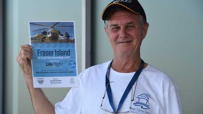 ANGLING FOR FUNDS: Happy Valley resident Larry Ray is hoping to reach $20,000 in his fundraising efforts for LifeFlight through this year's Fraser Island annual Tailor Season Weigh-In.