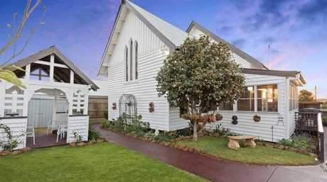 HOLY SALE: A former church in North Toowoomba, that has been turned into a beautiful home, is now for sale.