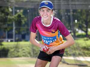 Jaida Twigg from Sandgate-Redcliffe District Cricket Club, which is part of the Brisbane North Junior Cricket Association which runs a series of programs aimed at encouraging more girls to play cricket.